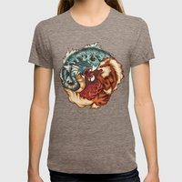 The Tiger and the Dragon Womens Fitted Tee Tri-Coffee SMALL