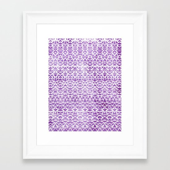 Tribal Mosaic Framed Art Print