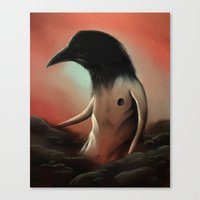 The crow in the cloud Canvas Print