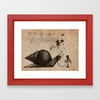 The fairy otler  Framed Art Print