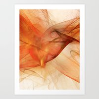 Orange Flames Art Print