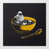 Space Flakes Canvas Print