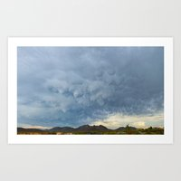 Mammatus Monsoon Clouds Over Cave Creek Park Art Print