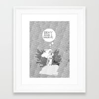 SEXY & I KNOW IT. Ariel … Framed Art Print