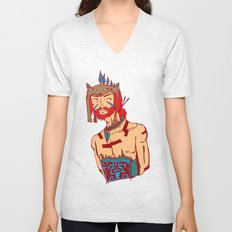 Tribal Man Unisex V-Neck