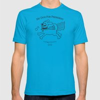 My Dog For President Mens Fitted Tee Teal SMALL