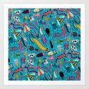 Bug Pattern Art Print