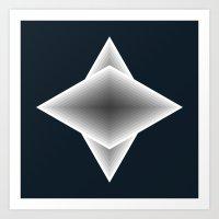 triangular elements Art Print