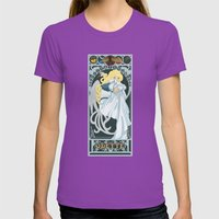 Odette Nouveau - Swan Princess Womens Fitted Tee Ultraviolet SMALL