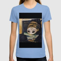 My Mask Womens Fitted Tee Tri-Blue SMALL