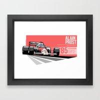 Alain Prost - 1985 Österreichring Framed Art Print