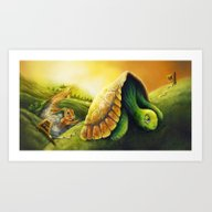 Tortoise And The Hare, B… Art Print