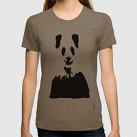 Pandas Blend Into White … Womens Fitted Tee Tri-Coffee SMALL