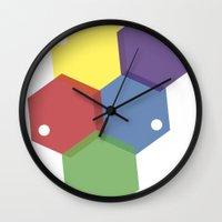 Farbbienenstock Wall Clock