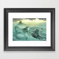 Jonah Tossed Overboard (… Framed Art Print