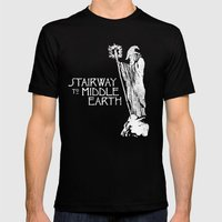 Stairway To Middle-earth Mens Fitted Tee Black SMALL