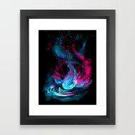 Framed Art Print featuring The Visitor by Alice X. Zhang
