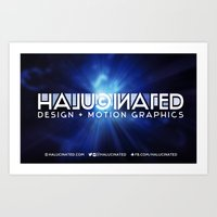 Halucinated Design + Motion Graphics Art Print