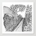 Zentangle Illustration - Road Trip Canvas Print