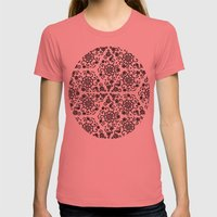 flowers Womens Fitted Tee Pomegranate SMALL