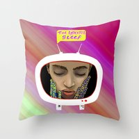 The Anxious Sleep Throw Pillow
