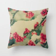 Winter Berry Throw Pillow