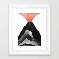 Man & Nature - The Vulcano Framed Art Print