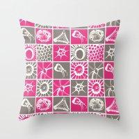 Microscopic Life Silloue… Throw Pillow