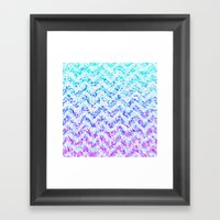 Chevron Splash Framed Art Print