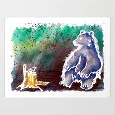 Bear Love Art Print