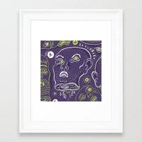 Floating Heads (Hallowee… Framed Art Print