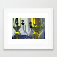 Pastel Glassware Framed Art Print