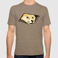 Ceiling Doge Mens Fitted Tee Tri-Coffee SMALL