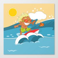 Non Olympic Sports: Surf… Canvas Print
