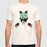Panda with F$%king Lazers Mens Fitted Tee Natural SMALL