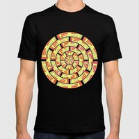 Radial Red Windows Mens Fitted Tee Black SMALL