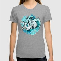 Ghostfire Fox Womens Fitted Tee Tri-Grey SMALL