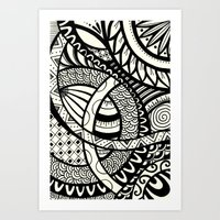 Zentangle Design Art Print