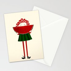 Melone girl Stationery Cards