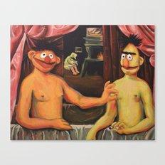 Bert Et Un De Ses Frère… Canvas Print