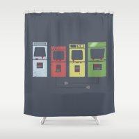 Arcade Machines Shower Curtain