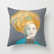 Throw Pillow featuring Yellow Hair by Hinterland Girl