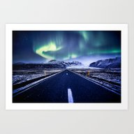 Road To Aurora  Art Print