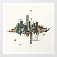 Collage City Mix 9 Art Print