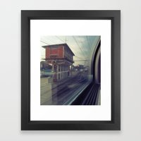 let's take the train Framed Art Print