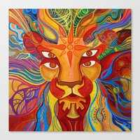 Lion's Visions Canvas Print