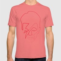 One line Aladdin Sane Mens Fitted Tee Pomegranate SMALL