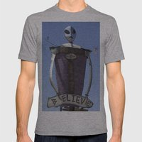Believe Mens Fitted Tee Athletic Grey SMALL