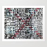 Part Wash (P/D3 Glitch Collage Studies) Art Print