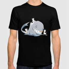 penguins and a whale SMALL Mens Fitted Tee Black